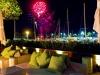 Pool - am Freitag Abend mit Feuerwerk