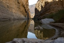Schlucht im Santa Elena Canyon des Big Bend Nationalparks