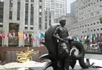 vor dem Rockefeller Center