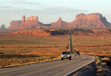 Fly Drive in Nordamerika, Dawn at Monument Valley