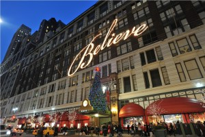 Weihnachtsdekoration von Macy's in New York