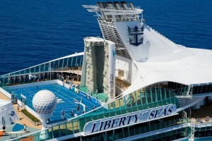 Kletterwand auf der Liberty of the Seas