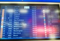 Anzeigetafel Frankfurt Flughafen