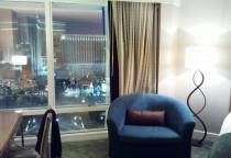 Zimmer im MIRAGE mit Blick auf Strip