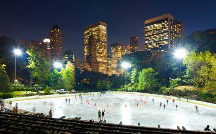 Wollman Ice Skating Rink – Eislaufen mit Kulisse
