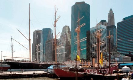 historisches South Street Seaport in Lower Manhattan