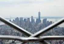 Blick von oben zur Südspitze Manhattans