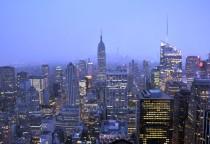 Blick vom Rockefeller auf das Empire State Building und Freedom Tower