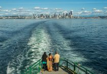 Fährfahrt mit Blick auf Seattle
