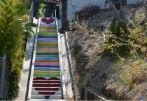 bemalte Stufen