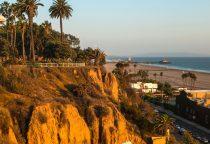 Blick auf Santa Monicas Küste