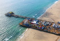 Santa Monica Pier mit Vergnügungspark photocredit SMCVB