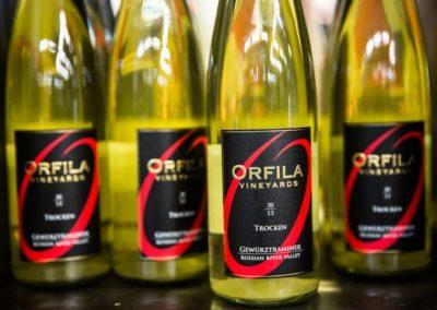 Gewürtstraminer (trocken) des Orfila Weinguts, das sich nahe San Diegos befindet