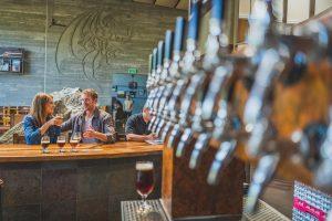 Bierverkostung in der Stone Brewery