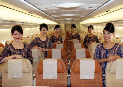 Cabin Crew der Economy Class im A330