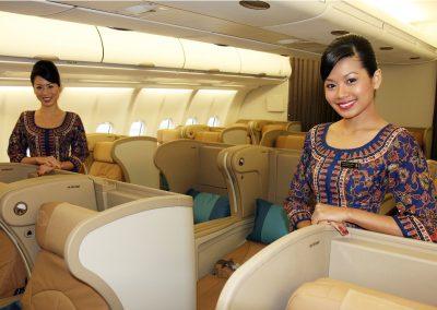 Cabin Crew der Business Class im A330