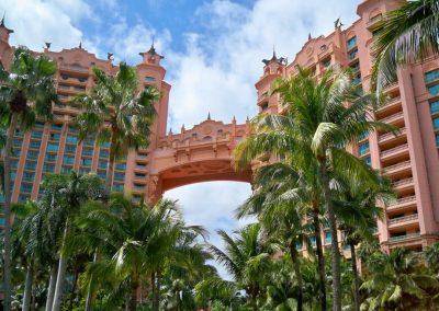 tropische Gärten im Resort