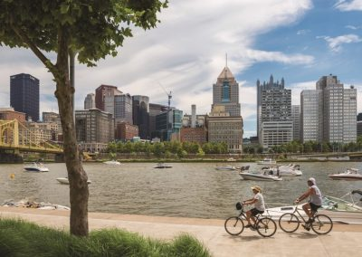 Pittsburgh ist eine aktive Stadt, daher ist Fahrradfahren sehr beliebt - copyright JP Diroll