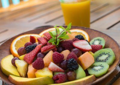 Früchtesalat im Roadrunner Café