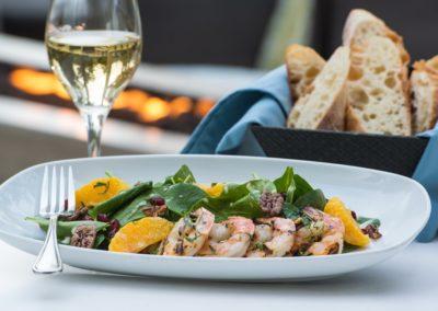 Restaurant Lanatana - Shrimp Salat zum Mittag