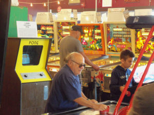 danny devito, Silverball Pinball Museum, Delray Beach